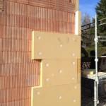 Isolation thermique extérieure en fibre de bois